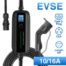 Portable EV Charging Box 10/16A Type 2 Cable CEE Plug Level 2 Charger Volkswagen