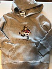 cef149df6 Polo Ralph Lauren Kids Football Bear Logo Grey Sweatshirt Hoodie Size 6