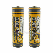 2 x AA 700mAh 1.2V NI-CD rechargeable battery CELL/RC MP3 2A KR6 HYPER Orange