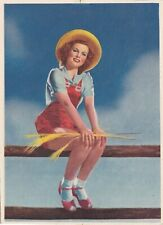 Ranch/ Farm beauty-1940s illustrated Pin-Up/Cheesecake sample Calendar top