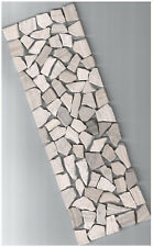 Fliese Bordüre Mosaik grau Marmor Bruchstein 10 x 30 x 0,8cm Bad Dusche Küche