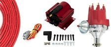 Billet Distributor Red 8.5mm Spark Plug Wires Coil 62-76 Ford 221 260 289 302 V8