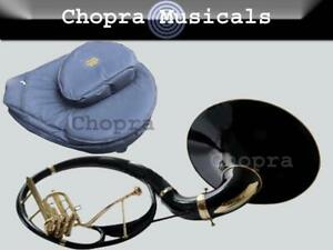 "Black Colored Sousaphone 22"" Bb ""Chopra Make"" 3 V BAG & MOUTH PIECE FREE 11/1"
