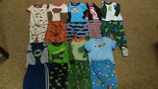 Lot of 9 Pajama Sets - 18 Pieces-  Sz: 18 mo / months - Carter, Old Navy, etc