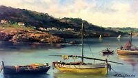 COASTAL LANDSCAPE. OIL PAINTING ON CANVAS. SIGNED CHRISTIAN REY. SPAIN. XXTH