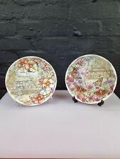 More details for 2 x royal albert butterfly garden plates