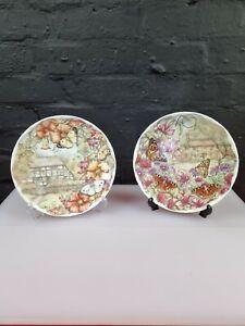 2 X Royal Albert Butterfly Garden Plates