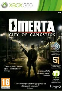 Omerta City of Gangsters Xbox 360 FREE POST VERY GOOD INCLUDES MANUAL!