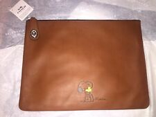 NWT Coach X Peanuts Snoopy w/Woodstock Large Folio Saddle Limited #44 of 90