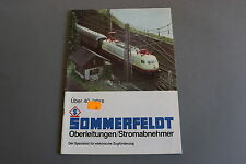 X341 SOMMERFELDT Train catalogue O Ho 1991 36 pages 29,7*21 cm F ANG D catenaire