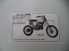 advertising Pubblicità 1980 MOTO VALENTI CR 250 CROSS