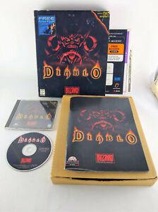 Diablo 1 Original PC Big Box Computer Game 1996 w/ Manual & Inserts Blizzard CD