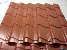 Tile Effect Roofing sheets, 0.7mm, Plastisol, Terracotta steel roof sheets