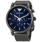 Emporio Armani AR1979 Blue/Dark Grey Stainless Steel Analog Quartz Men's Watch