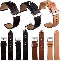 Quick Release Leather Watch Band Wrist Strap For Fossil Smart Watches 18 20 22mm