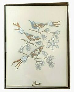 Crane & Co. Christmas Cards Winter Holiday Birds ~ New Box of 10 Hand Engraved