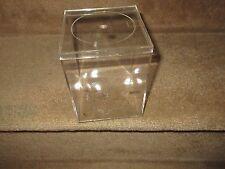 """Plexi Glass / Plastic , Trinket Box , Lid Included ,  5 1/2"""" X 4"""" X4"""""""