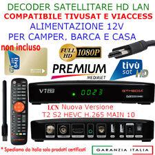 HD Tivusat Decoder Digitale Terrestre DVB-T2/S2X Satellite Combo LCN PVR WIFI
