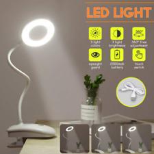 Lámpara de mesa de escritorio LED con clip USB Luz estudio de lectura de cama