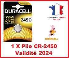 1 Piles CR-2450 DURACELL bouton Lithium 3V DLC 2024
