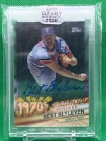 2020 Topps Clearly Authentic 1970's Decades' Best AUTO Bert Blyleven