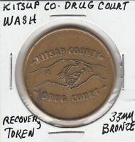 (V)  Token - Kitsap County, WA - Drug Court - Recovery Token - 33 MM Bronze