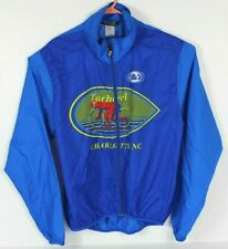 Louis Garneau Mens XL Cycling Jacket Windbreaker Tarheel Cyclists Charlotte Blue