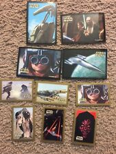 Lot of 10 STAR WARS Episode I Collector Stickers: Plus Darth Vader Tin