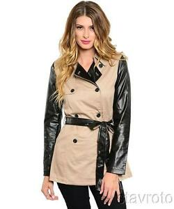Black & Tan: khaki cropped trench with contrast sleeves by Have & Have
