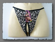 String, Crotchless, Open, Sexy, Wildcat, Blue, Thong, Thong, S-L, One Size
