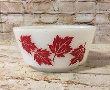 "Vintage HAZEL ATLAS Red Maple Leaf Malik Glass 5"" Bowl (BinS)"
