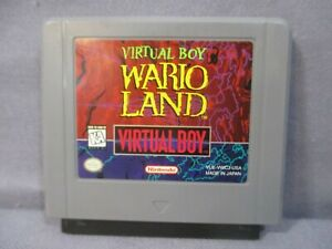 Nintendo Virtual Boy WARIO LAND VIDEO GAME Cart Only TESTED 1995