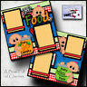 BABY 1st FOODS ~ 2 premade scrapbook pages paper printed layout boy girl CHERRY