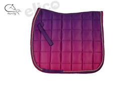 Elico Newington Ombre Fade Berry/ Purple Saddle Pad One Size FREE DELIVERY