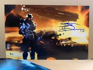 Steve Downes  Signed 11x17 Photo XBox Halo Master Chief BAS DL15