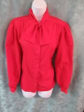 Vintage 80's Alicia Career Blouse Size 10 Pussy Bow Secretary