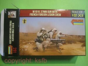 NEU 1:72 Strelets #291 WKII + Kolonialkrieg Fremdenlegion M1916 37mm Kanone Crew