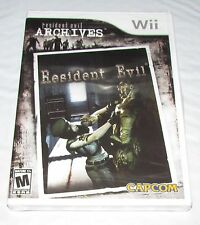 Resident Evil Archives for Nintendo Wii Brand New! Factory Sealed!