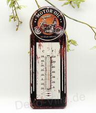 Thermometer Blechschild Metallschild Motor Oil Biker Motorrad retro Deko