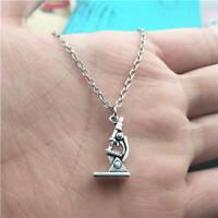 Microscope silver Necklace pendants fashion jewelry accessory,creative gifts