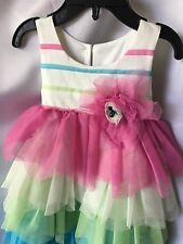Isobella and Chloe Girls Pastel Ruffled Tiered Dress Size 8-New
