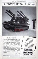 1960 REVELL Models Kit AD 'ONTOS' Tracked Vehicle - Original Print ADVERT
