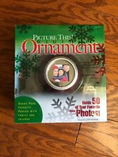 Picture This! Digital Photo 50 picture Display Ornament RED + disc cable NEW