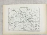 1881 Antique Military Map of Terespol Poland Belarus Russia Brest Hero Fortress