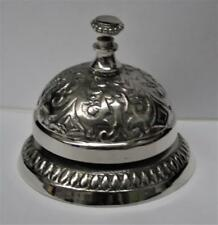Reproduced - Hotel Counter - Desk Bell - Ring For Service - Nickle Plated Loud