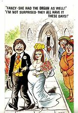 CN06. Comic Bamforth Postcard.  Newly Married Couple at the Church.