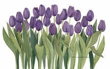 Purple Tulip 3 Watercolor Painting Reproduction by Wanda's Watercolors