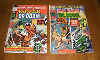 2 ASTONISHING TALES 1971 KA ZAR & DR. DOOM MARVEL COMICS - NO. 2 & 8