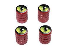 Cat Green Eye - Tire Rim Valve Stem Caps - Red