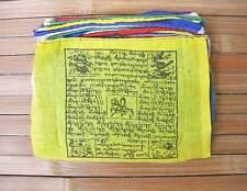 25 traditionelle Tibet Gebetsfahnen - Größe 1 - 100% Baumwolle - Nepal
